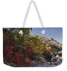 Weekender Tote Bag featuring the photograph Fall Foliage In The Guadalupes by Melany Sarafis