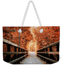 Weekender Tote Bag featuring the photograph Fall Foliage In The Heart Of Berlin by Ivy Ho