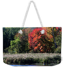 Fall Foliage Marsh Weekender Tote Bag