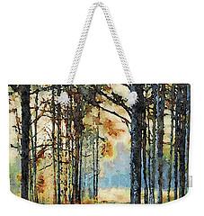 Fall Forest Watercolor Weekender Tote Bag