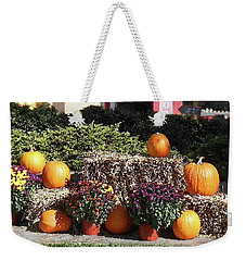 Weekender Tote Bag featuring the photograph Fall Gifts Harvest Time by Irina Sztukowski