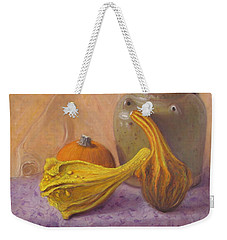 Weekender Tote Bag featuring the painting Fall Harvest #4 by Donelli  DiMaria
