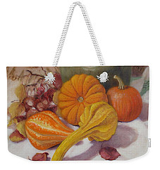 Weekender Tote Bag featuring the painting Fall Harvest #5 by Donelli  DiMaria