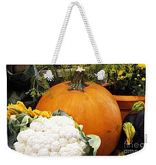 Weekender Tote Bag featuring the photograph Fall Harvest by Judyann Matthews