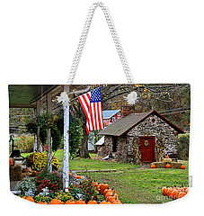 Weekender Tote Bag featuring the photograph Fall Harvest - Rural America by DJ Florek
