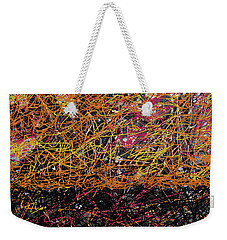 Weekender Tote Bag featuring the digital art Fall Homage To Jackson by Walter Fahmy