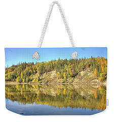 Fall Hues On The North Saskatchewan River Weekender Tote Bag