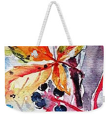 Weekender Tote Bag featuring the painting Fall II by Kovacs Anna Brigitta