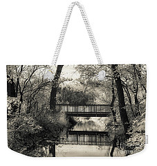 Fall In Black And White Weekender Tote Bag