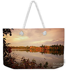 Fall In Canada Weekender Tote Bag by Lynn Bolt