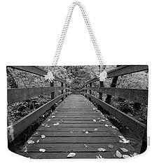Fall In Oregon Bw Weekender Tote Bag by Jonathan Davison