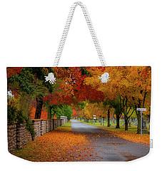 Fall In The Cemetery Weekender Tote Bag