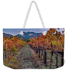Weekender Tote Bag featuring the pastel Fall In Wine Country by Bill Gallagher