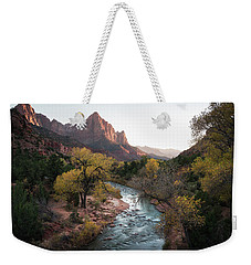 Fall In Zion National Park Weekender Tote Bag