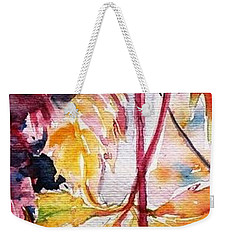 Weekender Tote Bag featuring the painting Fall by Kovacs Anna Brigitta