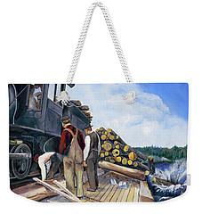 Fall Lake Train Weekender Tote Bag