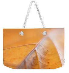 Weekender Tote Bag featuring the photograph Fall Leaf by Elena Nosyreva