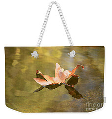 Fall Leaf Floating Weekender Tote Bag