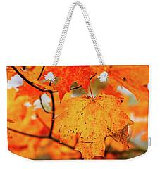 Fall Maple Leaf Weekender Tote Bag