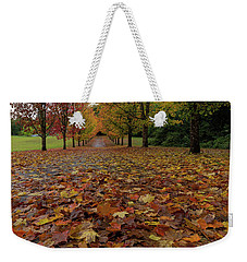 Fall Maple Leaves On Walking Path Weekender Tote Bag