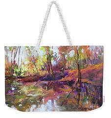 Fall Millpond Weekender Tote Bag by Rae Andrews