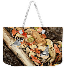 Fall Nuthatch Pair Weekender Tote Bag