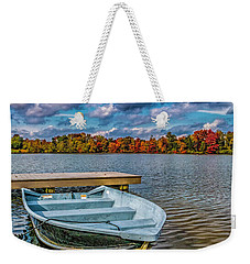 Weekender Tote Bag featuring the photograph Fall On Alloway Lake by Nick Zelinsky
