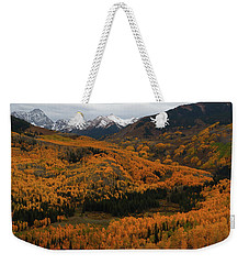 Fall On Full Display At Capitol Creek In Colorado Weekender Tote Bag