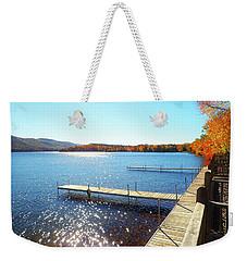 Fall On Lake Dunmore Weekender Tote Bag