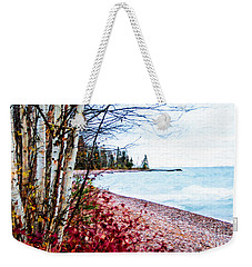 Fall On Lake Superior Weekender Tote Bag
