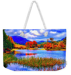 Fall On Long Pond Acadia National Park Maine  Weekender Tote Bag