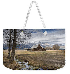 Weekender Tote Bag featuring the photograph Fall On Mormon Row - Grand Teton National Park by Sandra Bronstein