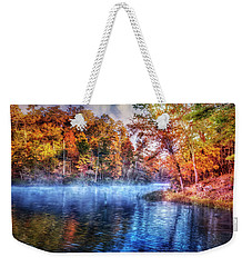 Weekender Tote Bag featuring the photograph Fall On The Lake by Debra and Dave Vanderlaan