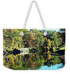 Fall On The Ottauquechee River Weekender Tote Bag by Joseph Hendrix