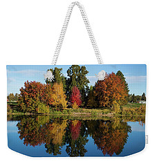 Fall On The Yakima River Weekender Tote Bag