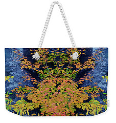 Weekender Tote Bag featuring the digital art Fall Painting Twins by Kevin Blackburn