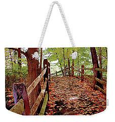 Fall Pathway Weekender Tote Bag