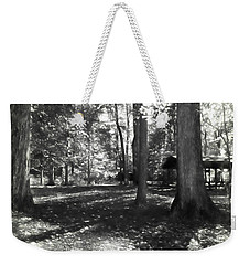 Fall Picnic Bw Painted Weekender Tote Bag