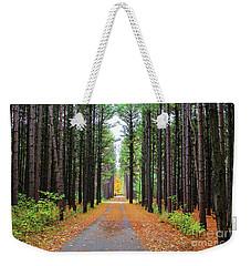 Fall Pines Road Weekender Tote Bag