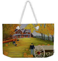 Fall Pumpkin Harvest Weekender Tote Bag