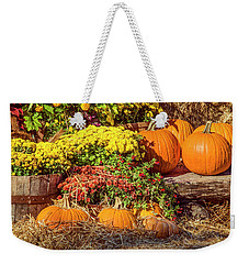 Fall Pumpkins Weekender Tote Bag by Carolyn Marshall