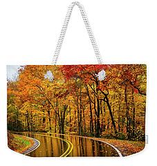 Fall Rain Weekender Tote Bag