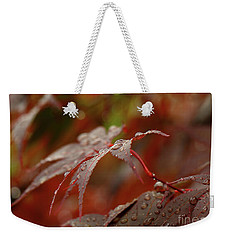 Fall Rain Weekender Tote Bag