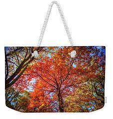 Fall Red Weekender Tote Bag