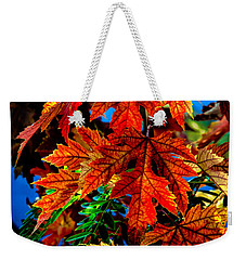 Fall Reds Weekender Tote Bag by Robert Bales