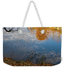 Fall Reflection In Blue Weekender Tote Bag