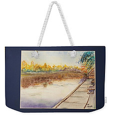 Fall Reflections At Weldon Springs Near Clinton, Il Weekender Tote Bag