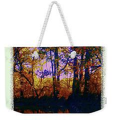 Fall Riverbank Weekender Tote Bag