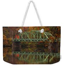 Fall Rocks Village Bridge Weekender Tote Bag