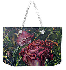 Fall Roses Weekender Tote Bag by Nadine Dennis